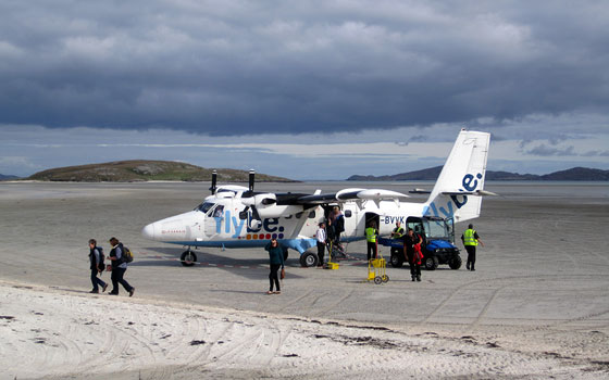 Landing on the Sand at Barra Airport